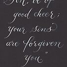 Be of good cheer inspirational verse by Melissa Goza