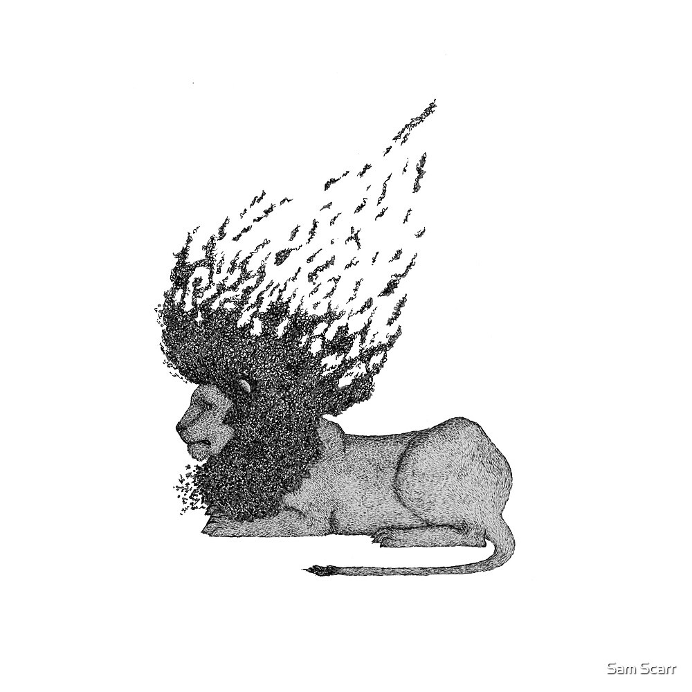 Abstract Lion by samclaire