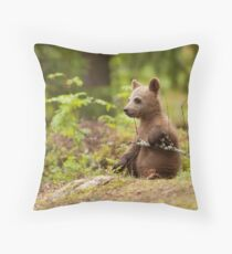 Lonely Cub Throw Pillow