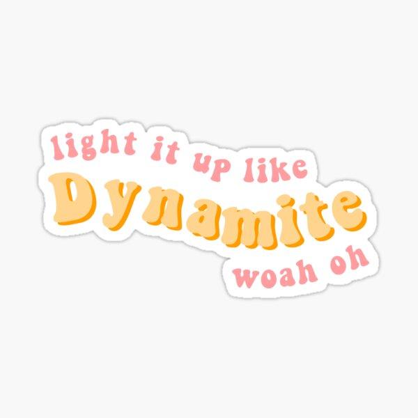 Ilumina como dinamita BTS letras Pegatina