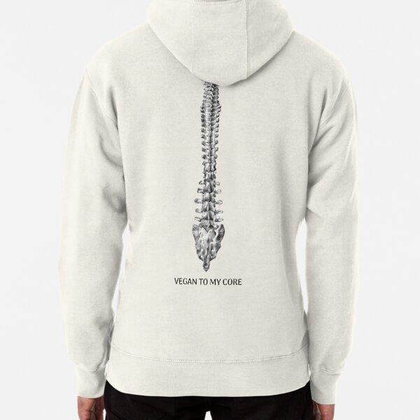Vegan Spine Back Pullover Hoodie