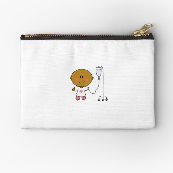 Person with IV - Medical Graphic Zipper Pouch