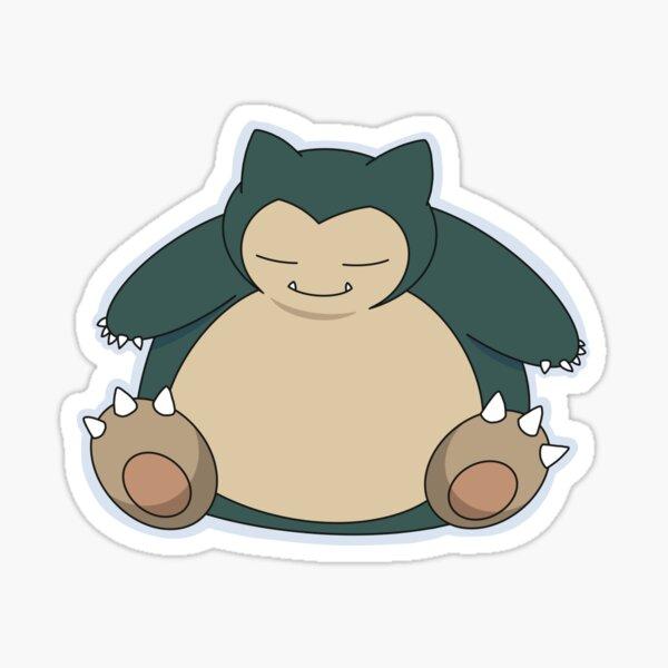 Cuddly Snorlax, Blue Outline Sticker