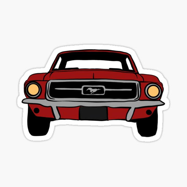 1967 Ford Mustang Candy Apple Rouge Sticker