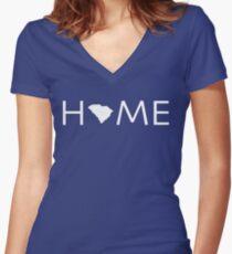 SOUTH CAROLINA HOME Women's Fitted V-Neck T-Shirt