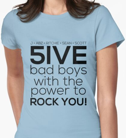 5ive Bad Boys with the Power to ROCK YOU! (original lineup - black version) T-Shirt