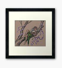 Tattooed Tree Elf - Just Hanging Around Framed Print