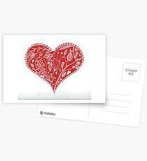 Zentangle heart Postcards