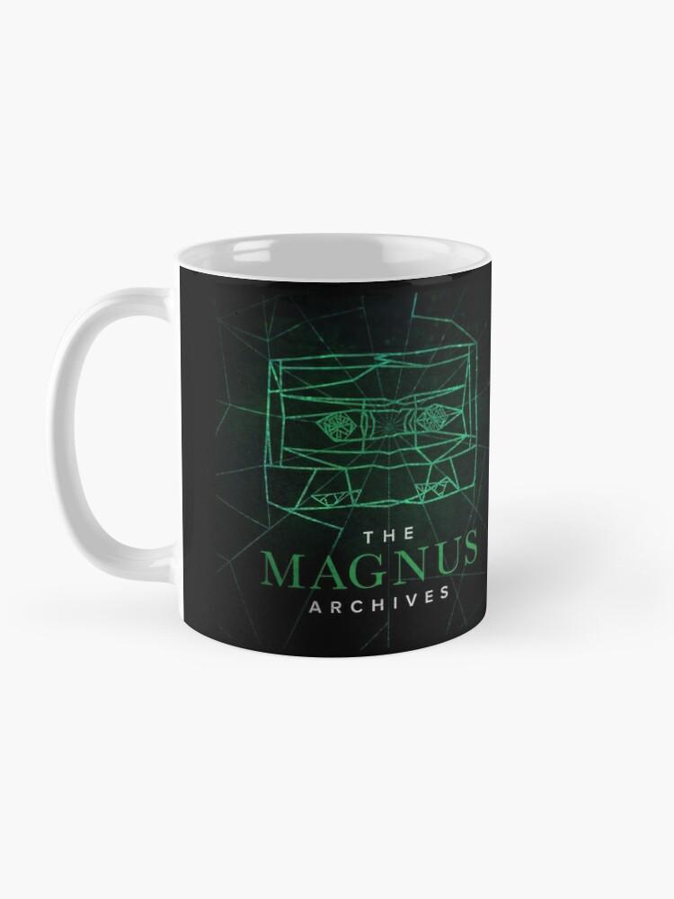 Alternate view of The Magnus Archives Logo (Season 5) (Square Block Logo) Mug