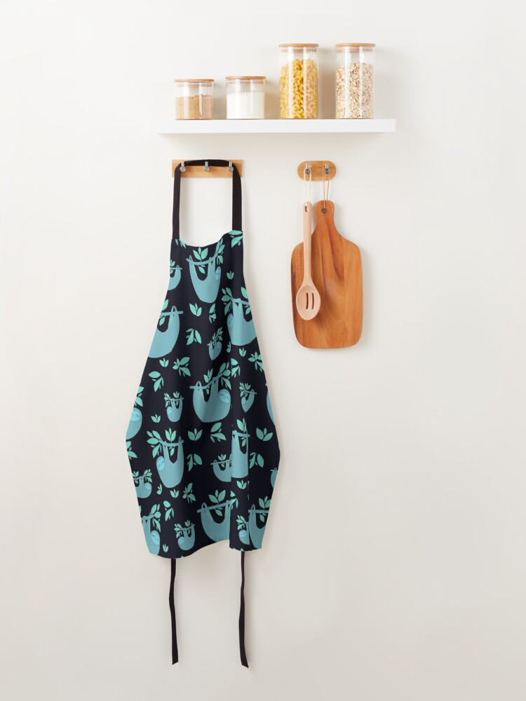 Alternate view of Blue Green Sloth Apron