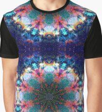 Trippy Rainbow Space Kaleidoscope Graphic T-Shirt
