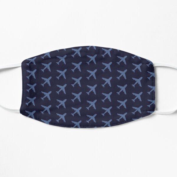 Blue Plane Pattern Flat Mask