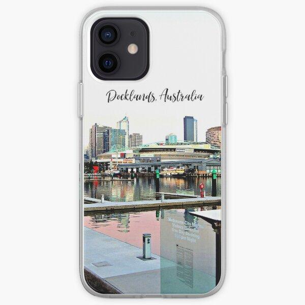 Docklands, Australia cityscape photograph iPhone Soft Case