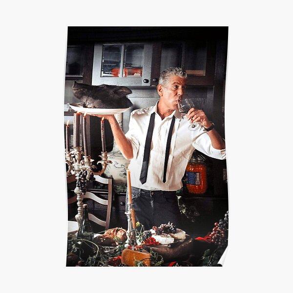 Anthony Bourdain Porky Goodness & Wine Poster