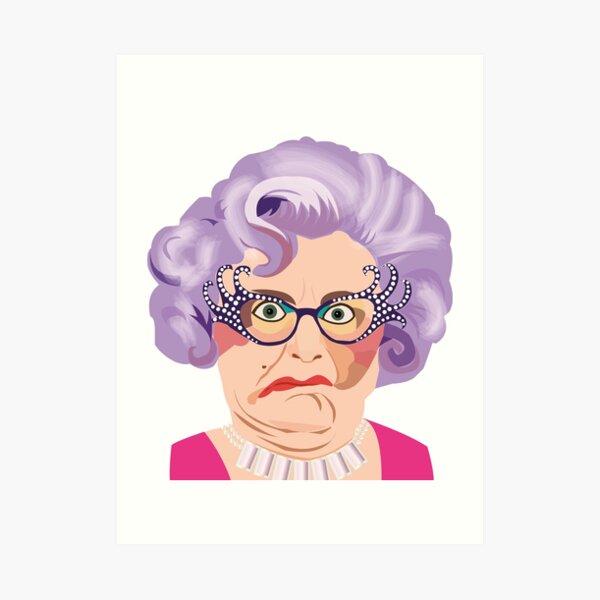 Dame Edna, Enda Everage, Barry Humphries, Aussie comedy, Australian Art Print