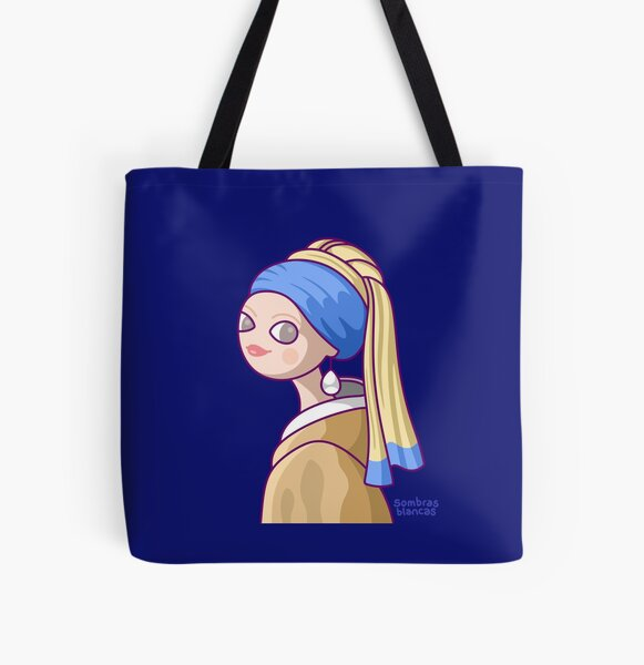 Girl with a Pearl Earring All Over Print Tote Bag