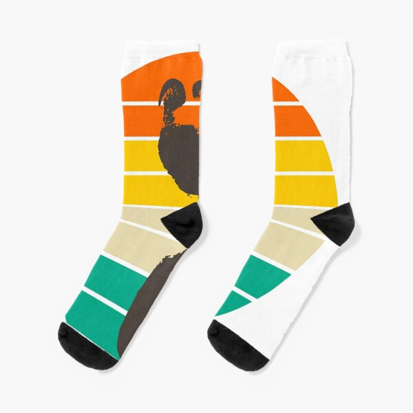 Retro barefoot runner Socks