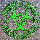 ZORT green on diamond plate by thatstickerguy