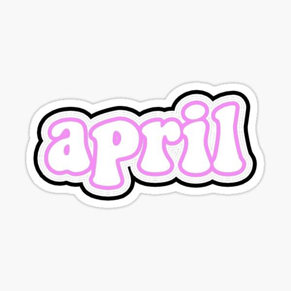 april Sticker