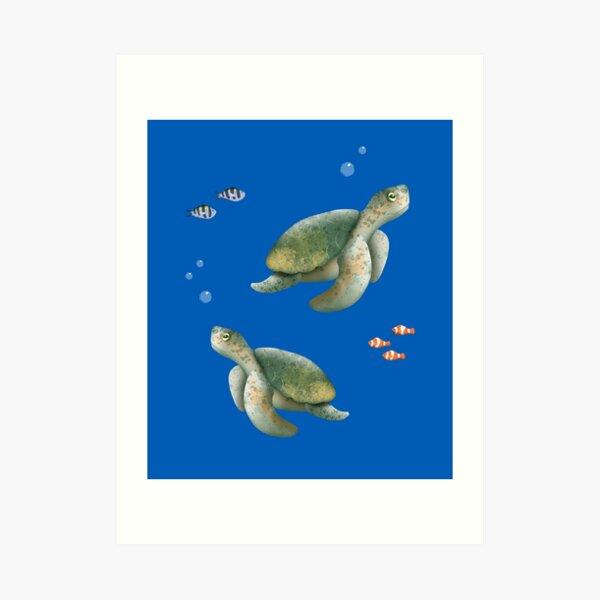 Cute sea turtle Art Print