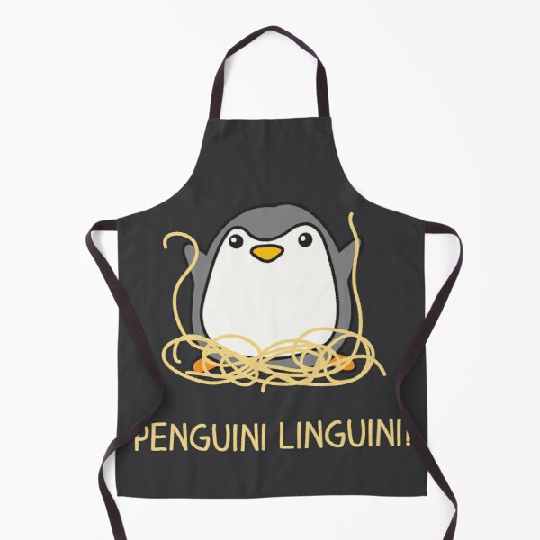 Penguini Linguini, Spaghetti, Pasta penguin Apron
