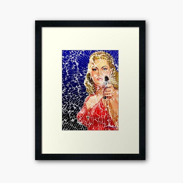 Shattered Again Framed Art Print