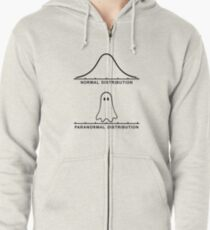 Normal Paranormal Distribution Zipped Hoodie