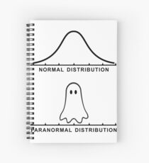 Normal Paranormal Distribution Spiral Notebook
