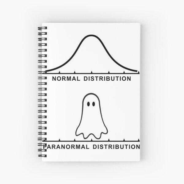Normal Paranormal Distribution Spiral Notebook