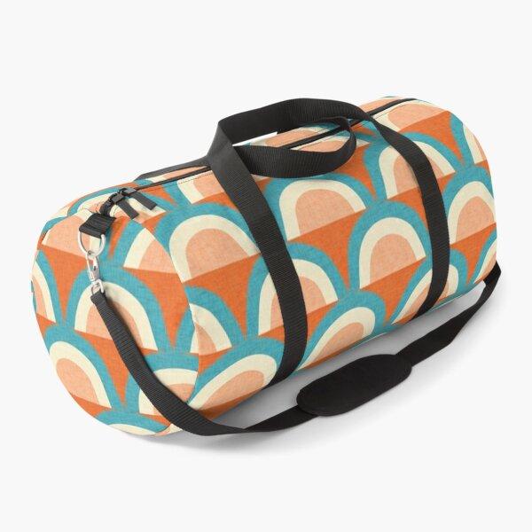 New Mid Mod Rainbow Magic Blue Orange #midcentury Duffle Bag
