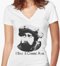Baldrick - I Have A Cunning Plan Women's Fitted V-Neck T-Shirt