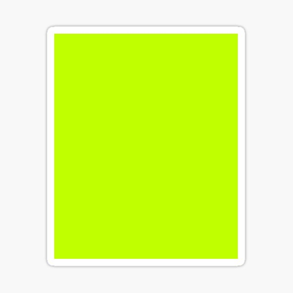 Bitter Lime Neon Green Yellow Solid Color Sticker
