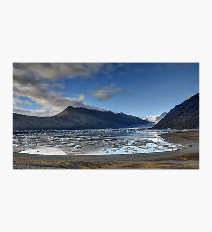 Flaajokull Glacial Lagoon Photographic Print