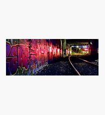 Graffiti art on Stoney Point diesel train line Photographic Print