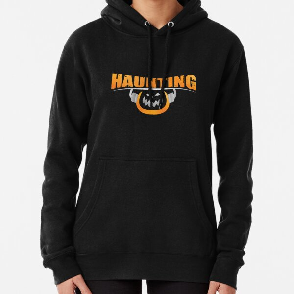 Haunting U Logo-Great for Dark Backgrounds Pullover Hoodie