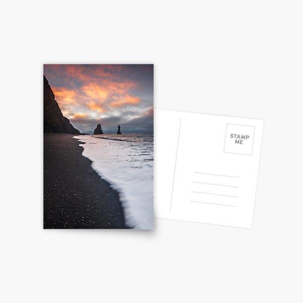 Black Sand Beach Postcard