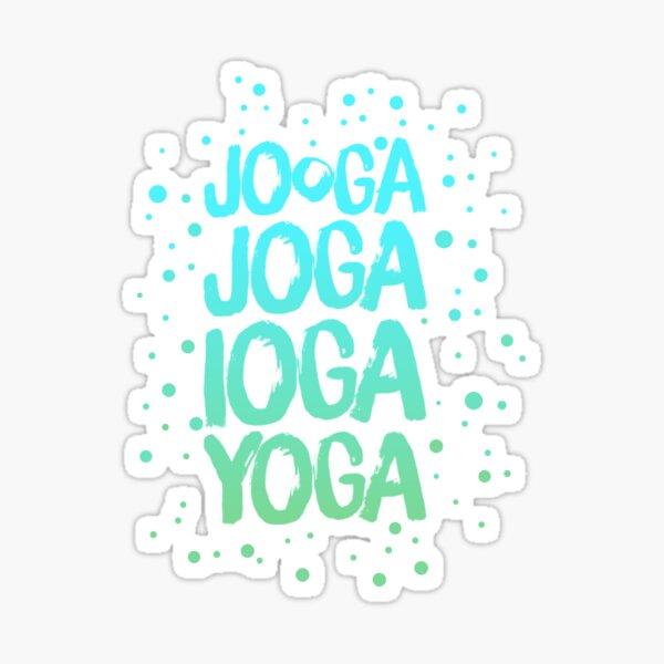 Yoga around the world green-blue Sticker