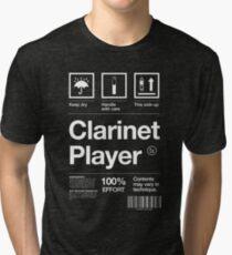 """Clarinet Player"" Label Tri-blend T-Shirt"