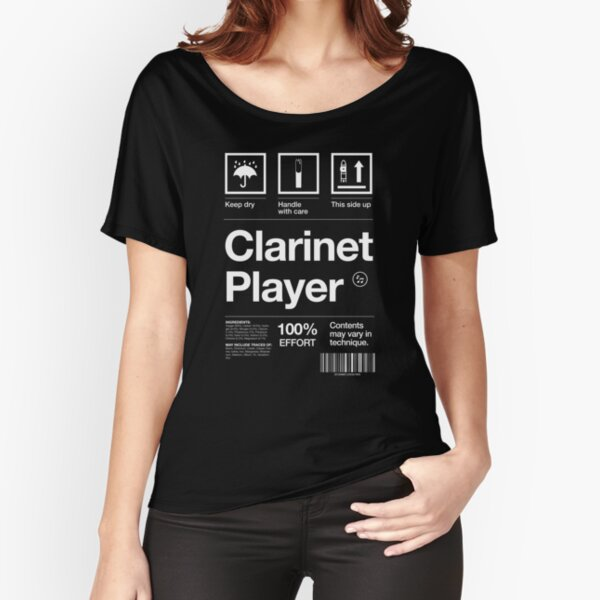 """""""Clarinet Player"""" Label Relaxed Fit T-Shirt"""