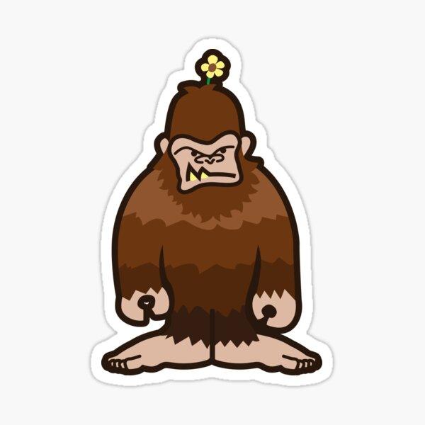 Annoyed Sasquatch Sticker