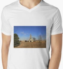 Little Church on The Prairie Men's V-Neck T-Shirt