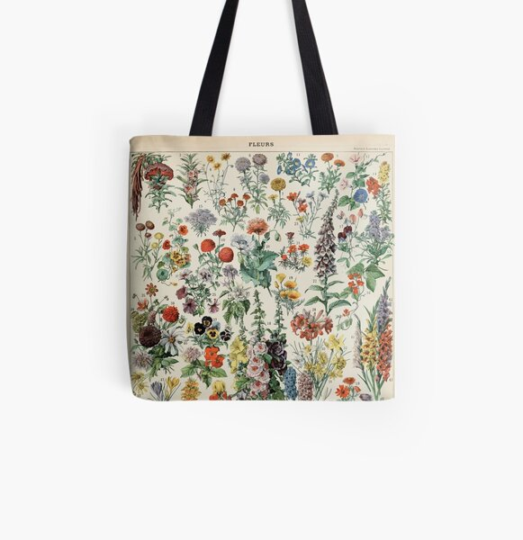 Adolphe Millot fleurs A All Over Print Tote Bag