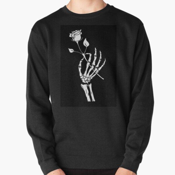 Skeleton Rose Pullover Sweatshirt