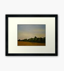 Corn Field with Trees  Framed Print