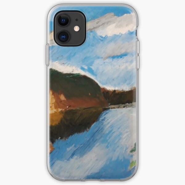 Lake and forest iPhone Soft Case