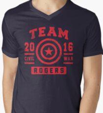 TEAM ROGERS Men's V-Neck T-Shirt