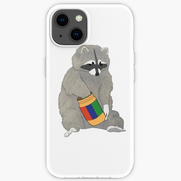 Raccoon Eating Peanut Butter iPhone Soft Case