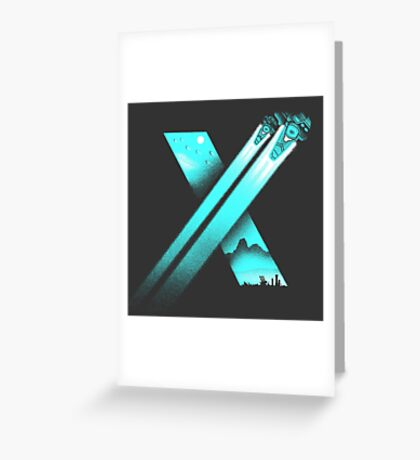XENO CROSS Greeting Card