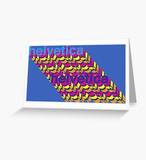 Helvetica  Greeting Card