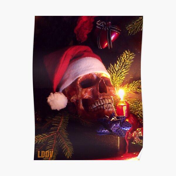 Crâne de Noël Poster